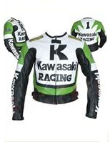 Kawasaki R Racing motorcycle leather jacket