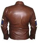 new stylish dark brown soft leather jacket
