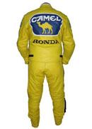 New stylish Honda Camel Motorbike Leather Suit