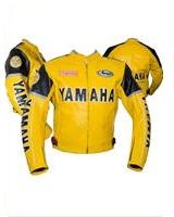 yamaha yellow color motorbike racing jacket