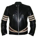 new x men style black soft aniline leather jacket