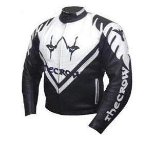 crow style motorcycle leather jacket