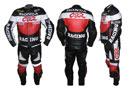 HONDA CBR Biker Racing Leather Suit Red Black