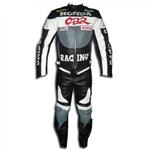Honda CBR Motorcycle Racing Leather Suit Grey Color