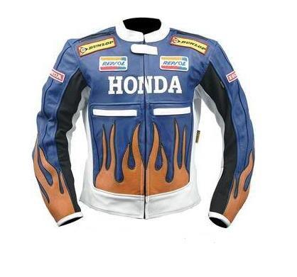 stylish honda repsol motorcycle leather jacket