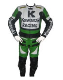 Kawasaki Racing 1 Motorcycle Leather Suit