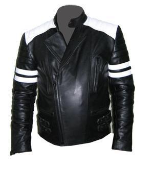 stylish mens white soft aniline leather jacket