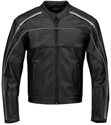 stylish black and white motorcycle racing leather jacket