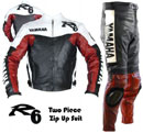Yamaha R6 Motorcycle Racing Leather Suit