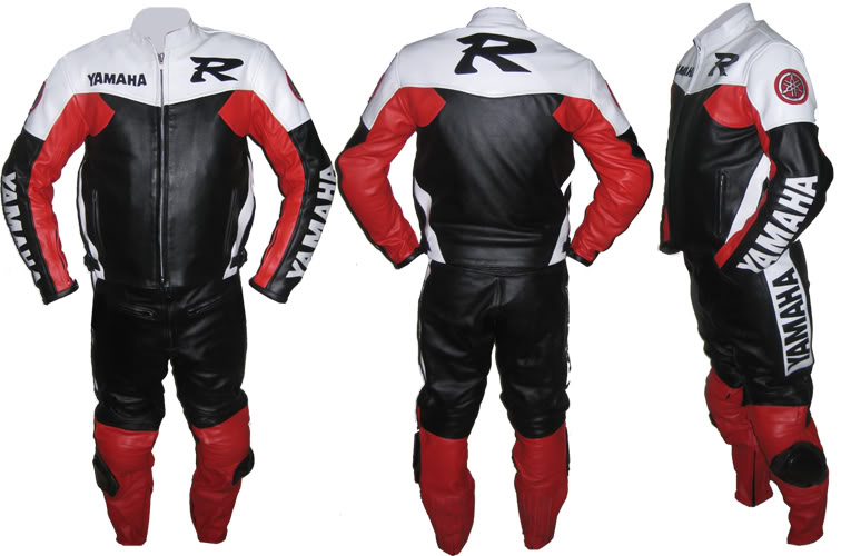 yamaha r motorcycle riding leather suit