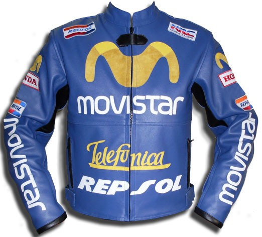 honda movistar telefunica repsol leather jacket