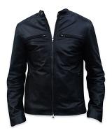 men s fashion soft aniline black leather jacket