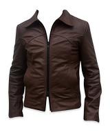men s soft aniline dark brown leather jacket