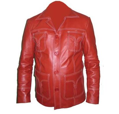 mens reddish style soft leather jacket
