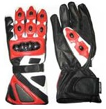 Red Color Motorcycle Leather Gloves