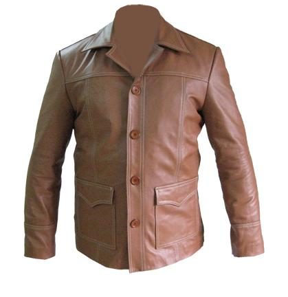 stylish brown soft cowhide aniline leather jacket