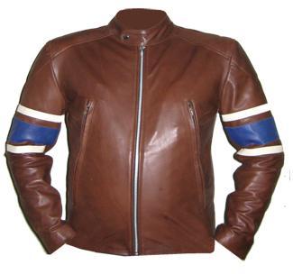 new stylish dark brown soft aniline leather jacket
