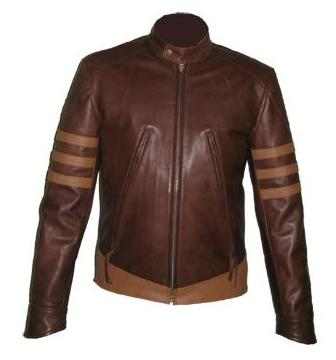 x men style brown soft leather jacket