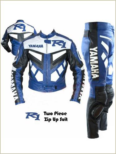 yamaha r1 motorbike riding leather suit